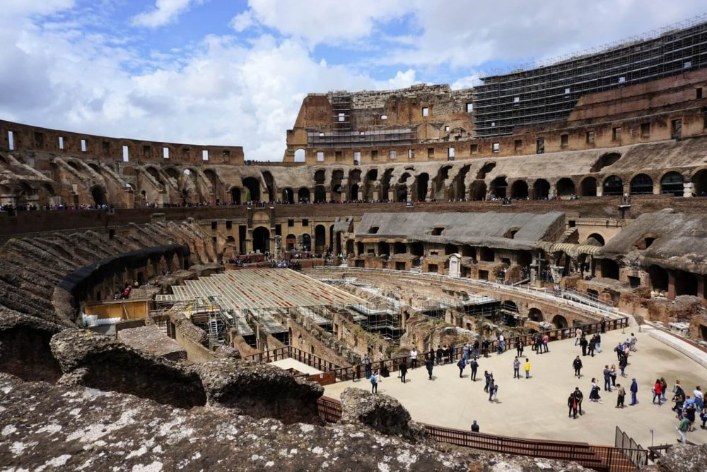 visit the colosseum - the main tourist attraction in Rome