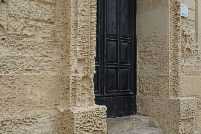 Lecce is built in limestone, hence why some of it is crumbling but also why the buildings are worth seeing for their intricate designs - best places to visit
