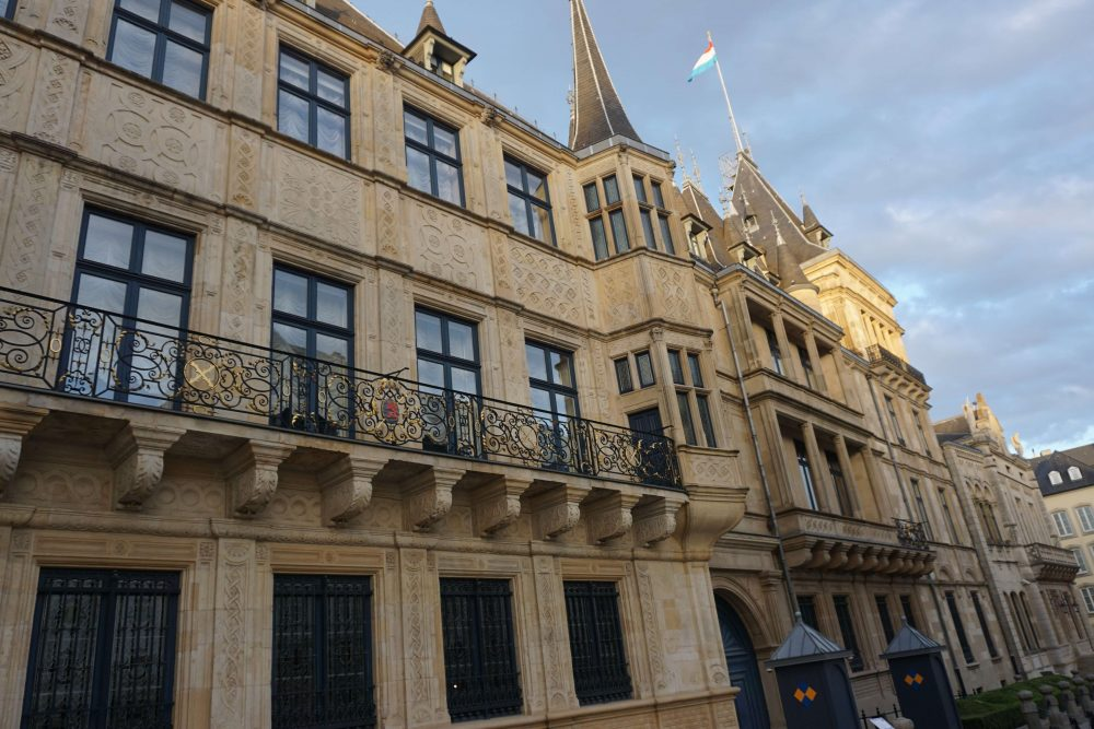 the grand ducal palace in Luxembourg city