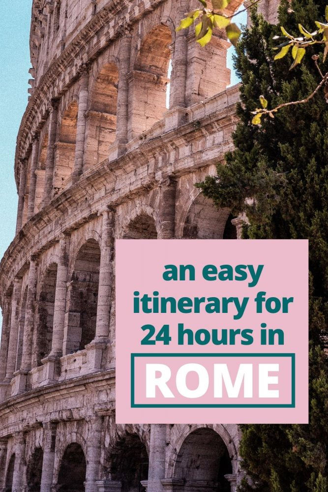 Even just with 24 hours in Rome you can still see it all! Follow our little walking route and suggested itinerary and you won't go far wrong on your Rome day trip. #Rome #Italy