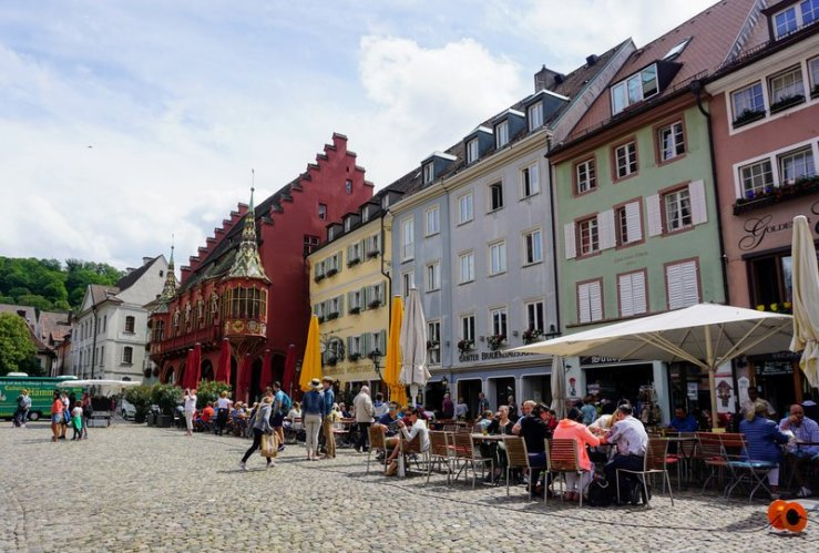 munsterplatz - the best place to sit and have a drink in freiburg germany