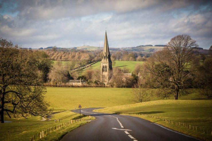 A walk near Chatsworth House in Derbyshire