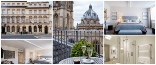 The Old Bank Hotel - a luxury hotel in Oxford known for its Boutique style and amazing views.