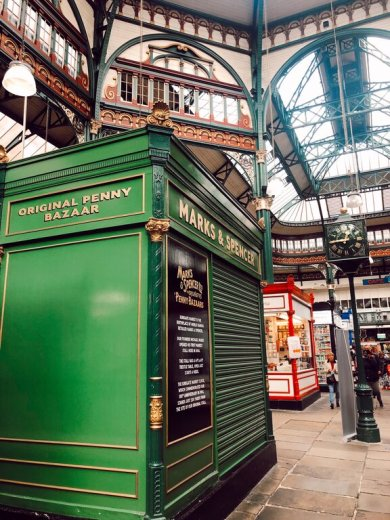 original marks and spencers stall - one of the things to see in Leeds on a day visit, a bit of the city's heritage.
