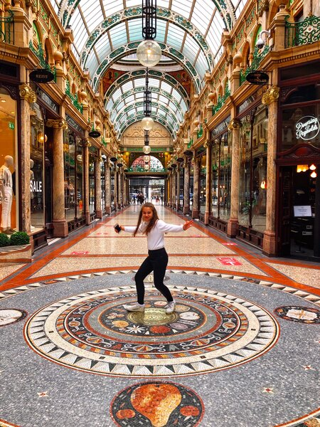 One of the many beautiful Leeds attractions are the Victorian shopping arcades, particularly this one; Victoria Arcade