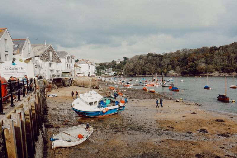 Fowey, Cornwall, England. A pretty little town if you're looking for the best place to base yourself in Cornwall for 7 days.