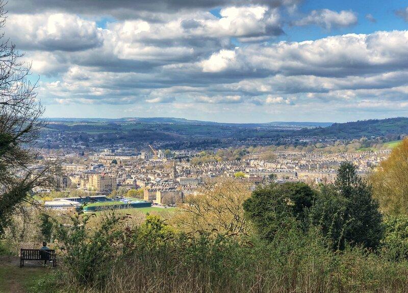 Walking in Bath - views from Bath skyline