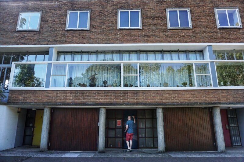 Erno Goldfinger house Hampstead, England. 2 Willow Road