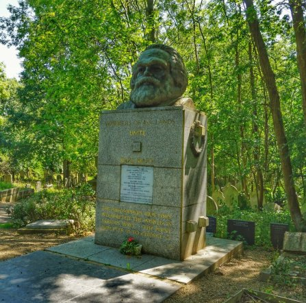 Why is Karl Marx buried in Highgate cemetery?