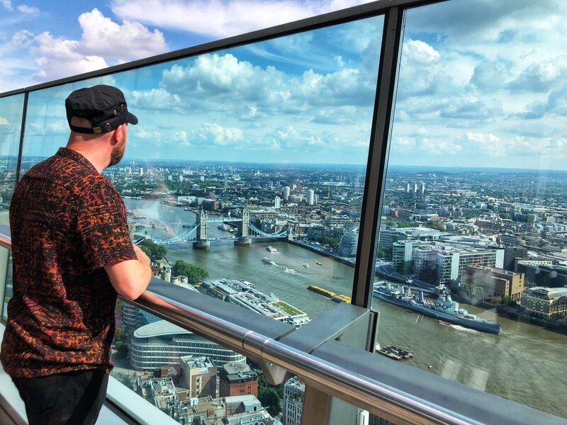 View of London Bridge from the London Skygarden terrace