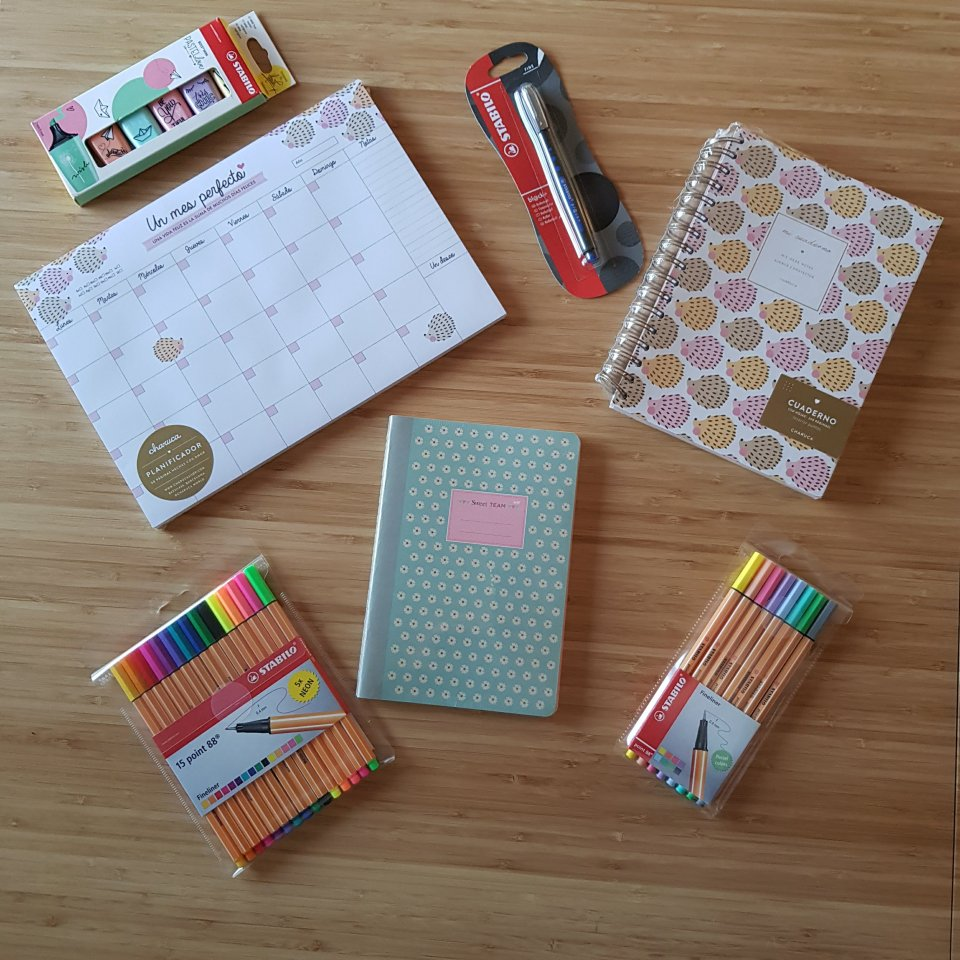 Stationery supplies for planning
