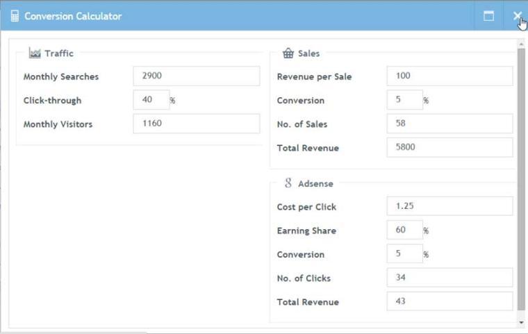 SECockpit Review Conversion Calculator