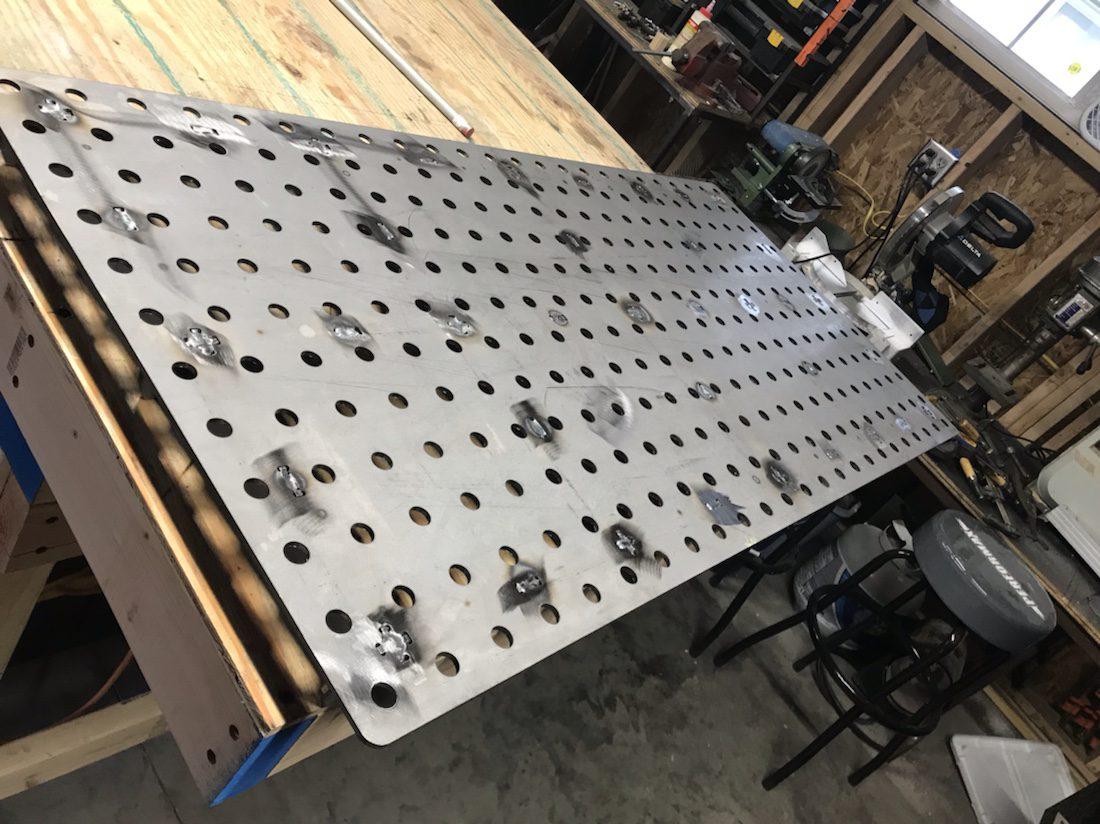 Welding table top