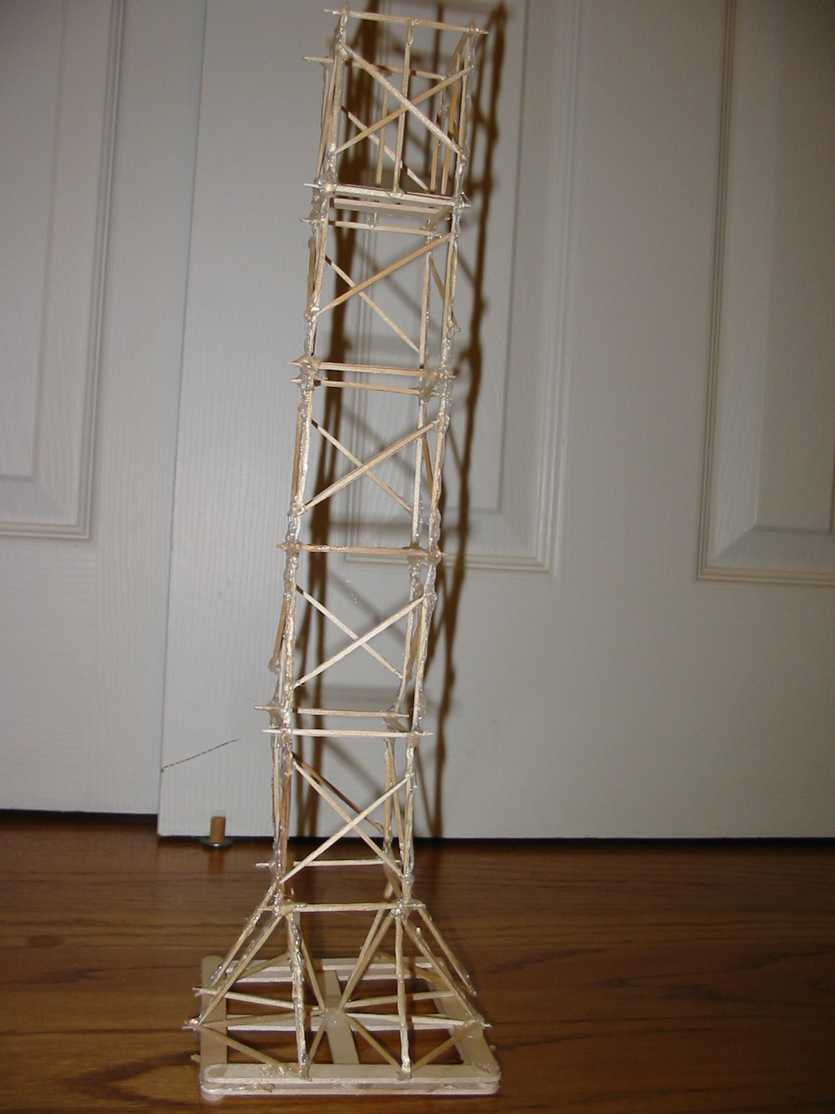 Eiffel Tower Made Of Popsicle Sticks