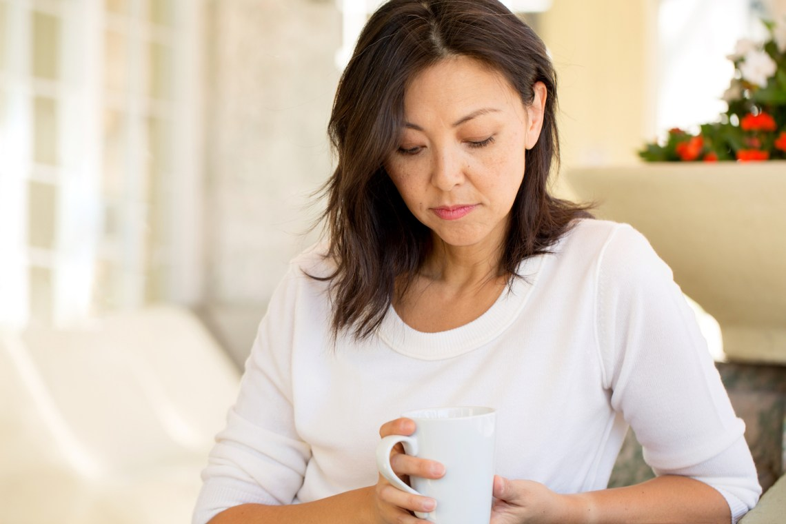 woman with depression and incontinence