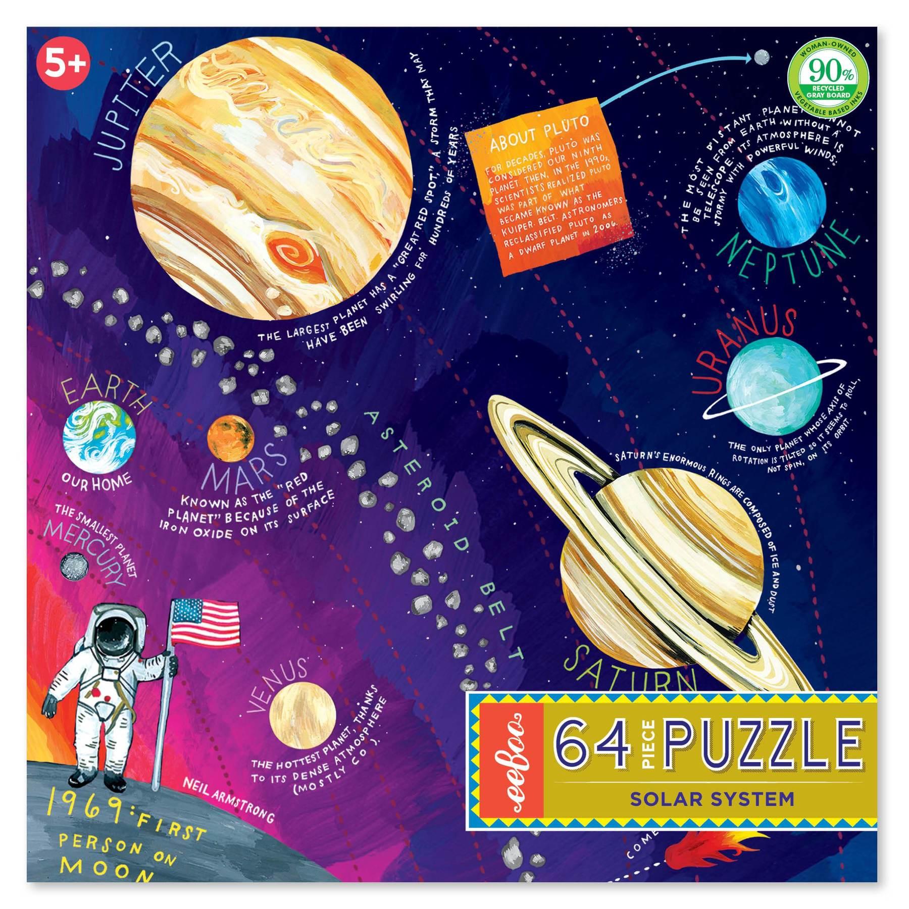 Eeboo 64 Piece Puzzle Solar System My Little Bubba
