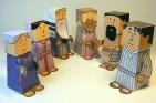 Papercraft de personas para Belén navideño. Manualidades a Raudales.