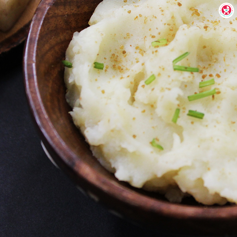 Confused of first foods moms! Potato Puree for babies makes a good first food. It has soft consistency, easily mashable and it is the least allergenic food.
