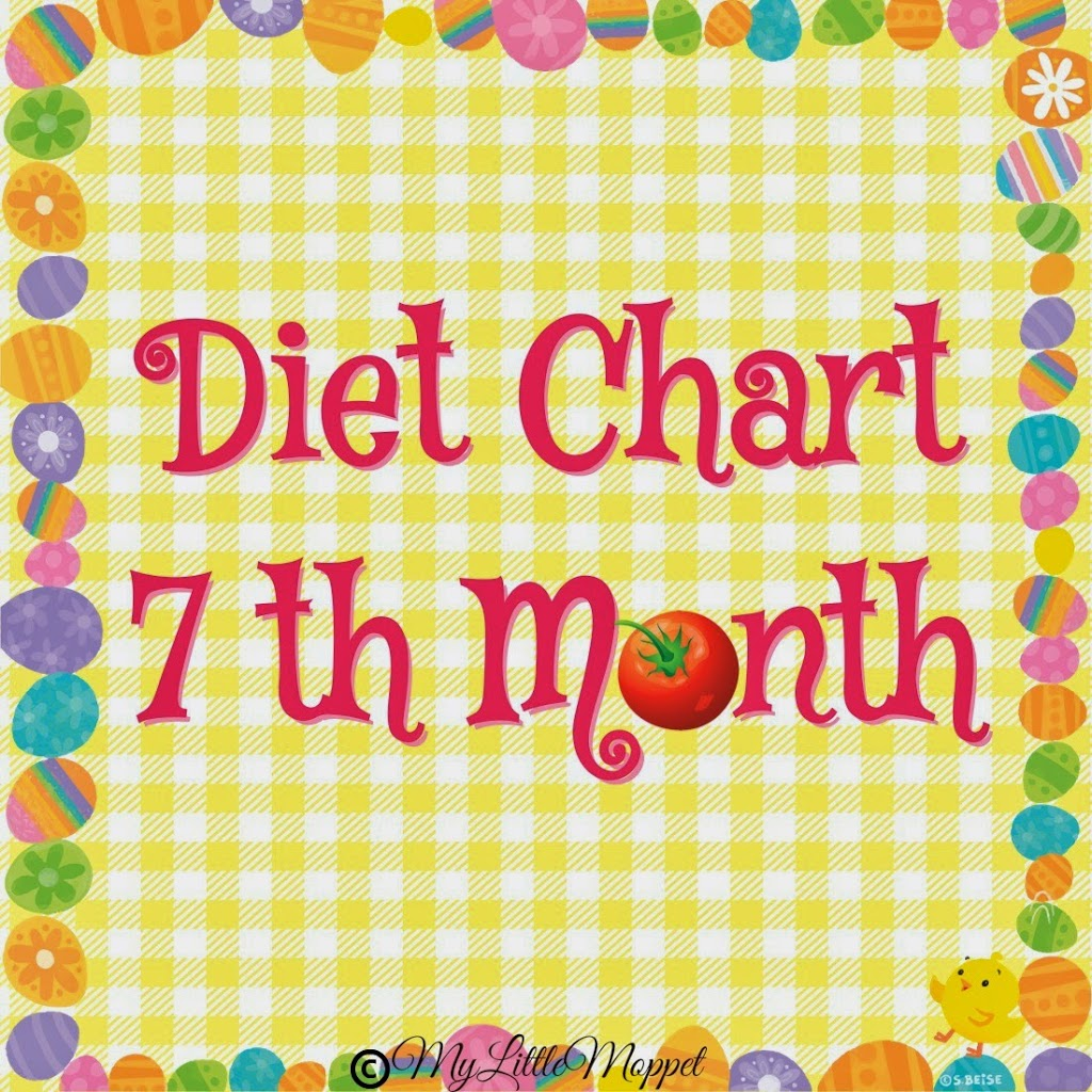 7 months baby food chart my little moppet 7 months baby food chart ccuart