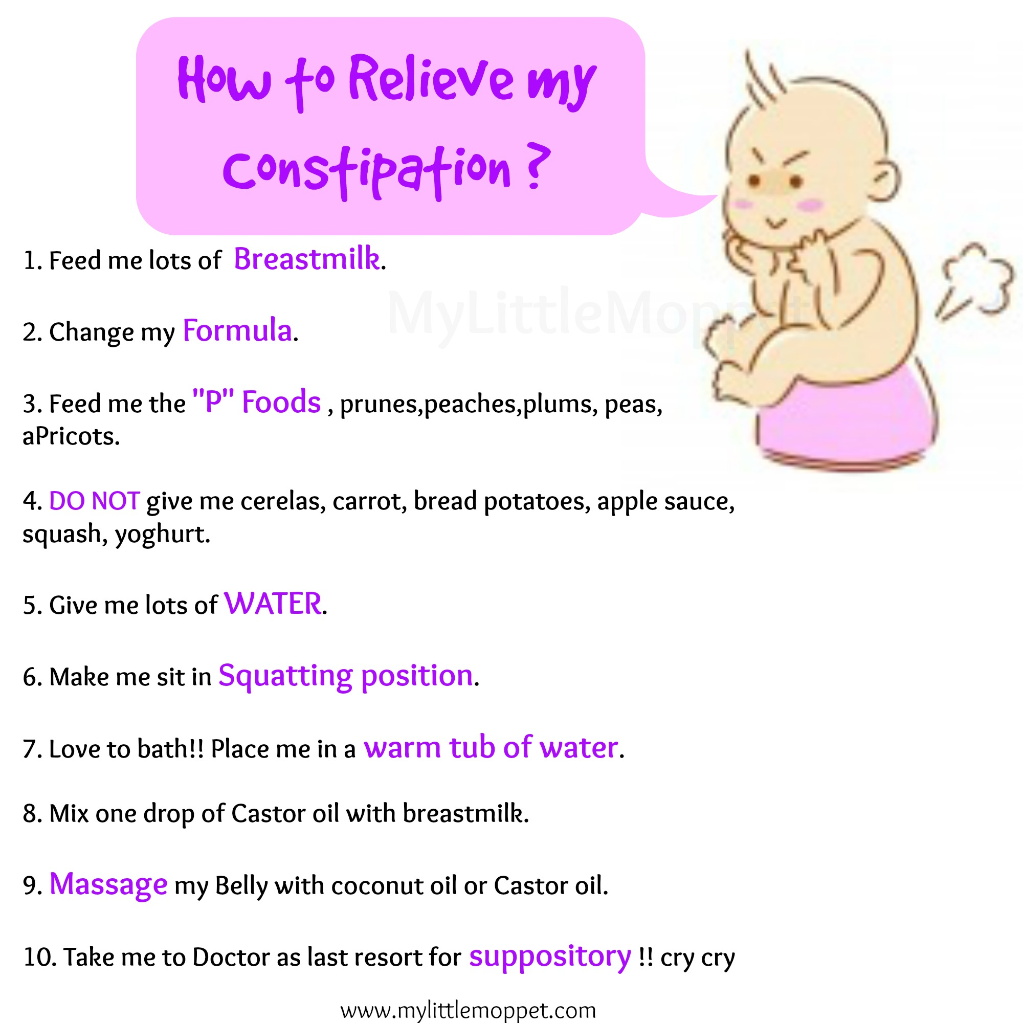How To Relieve Constipation In Babies My Little Moppet