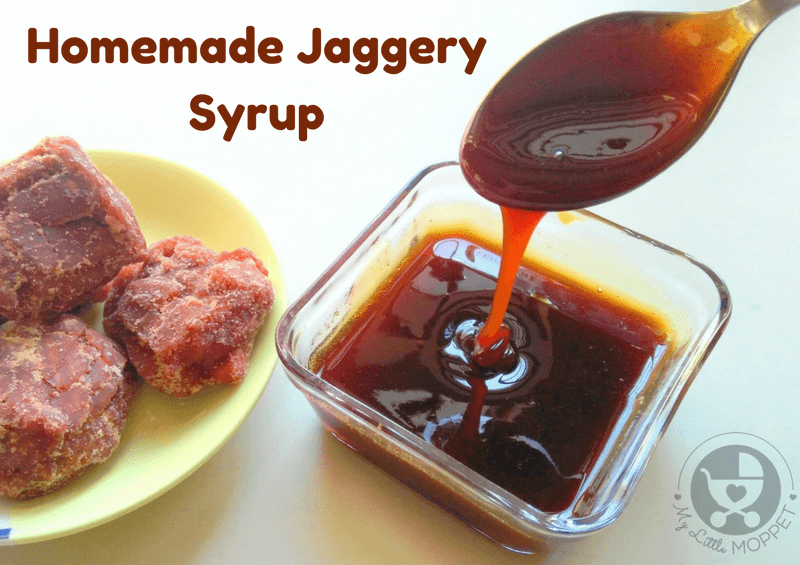 Jaggery is a great alternative to refined sugar and has better health benefits. Make your own jaggery syrup at home to use in all your sweet dishes instead of sugar!