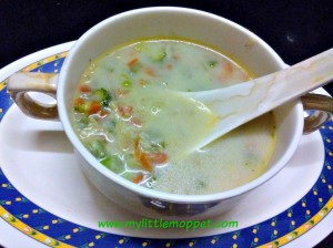 Mixed Vegetable soup fpr babies and toddlers