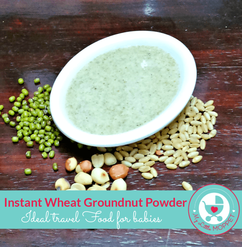 Groundnut Wheat Porridge Powder Recipe My Little Moppet