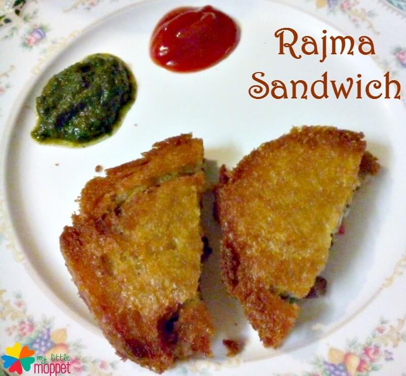 Rajma /Red Kidney Beans Sandwich Recipe for kids