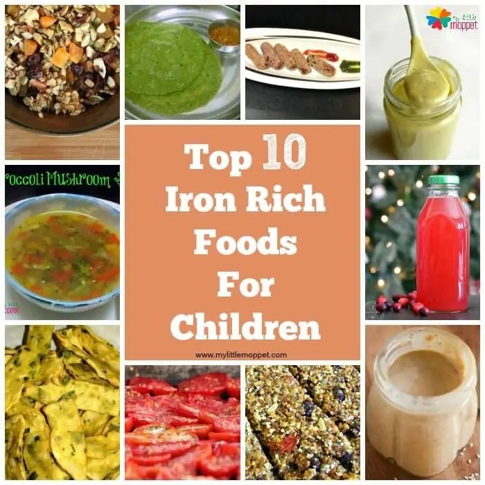 Top 10 Iron Rich Foods for kids