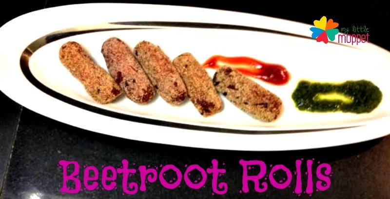 easy evening snacks recipe beetroot rolls