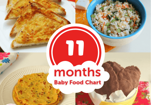 Your baby is not so much a baby anymore! Make the most of baby's natural curiosity by introducing more flavors & textures with the 11 months baby food chart.
