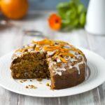 Eggless Whole Wheat Carrot Cake Recipe
