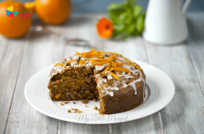 Eggless Whole Wheat Carrot Cake recipe for kids