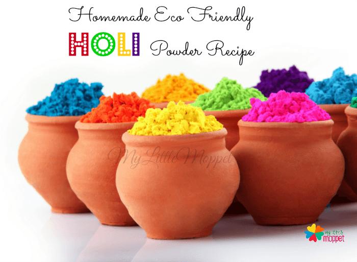 Home made Eco friendly natural holi powder recipe for kids