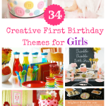 34 Creative Girl First Birthday Party Themes & Ideas