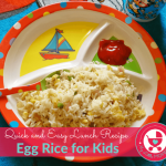 Egg Rice recipe for toddlers