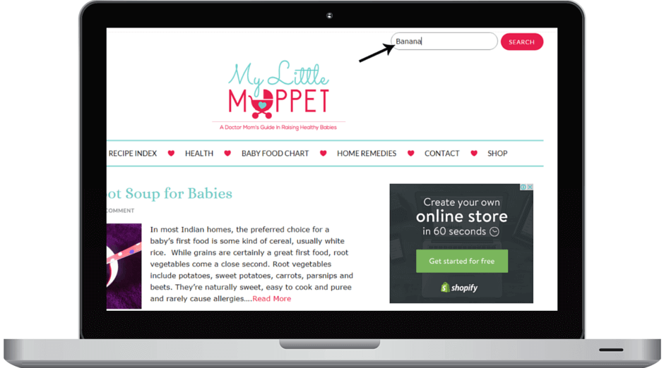 how to search in mylittlemoppet easily