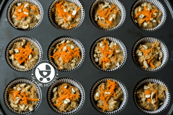 spiced carrot walnut muffins