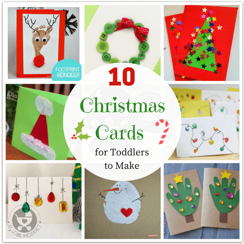 10 Easy, Last Minute Christmas Cards For Toddlers To Make