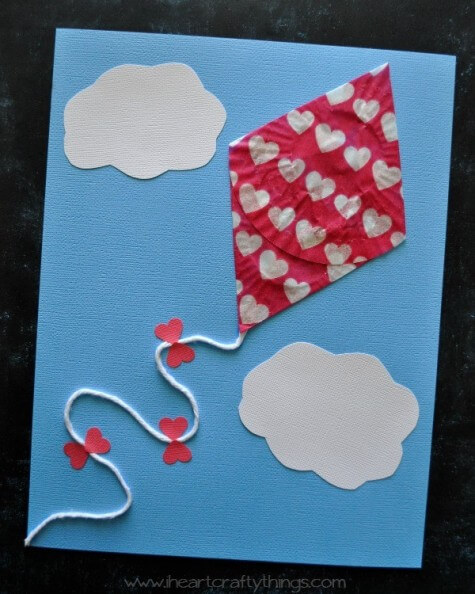 Cupcake Liner Kite Craft