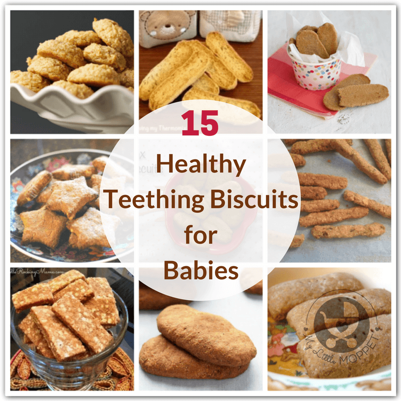 Teething biscuits are a great way to soothe your little one's sore gums! Here are 15 whole grain, healthy Teething Biscuit Recipes for Babies under one.