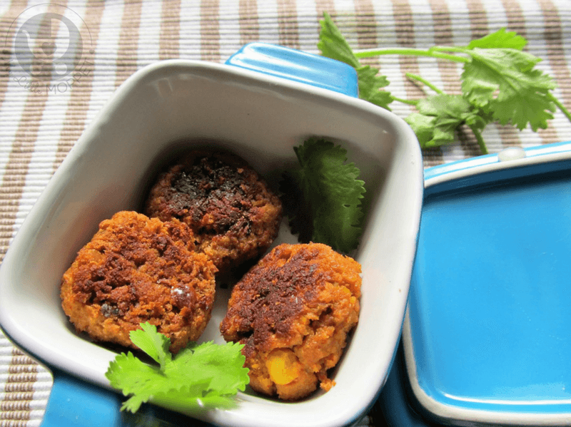 Give your kids a protein boost at snack time with these Soya and chana dal cutlets - completely zero fat and vegan!