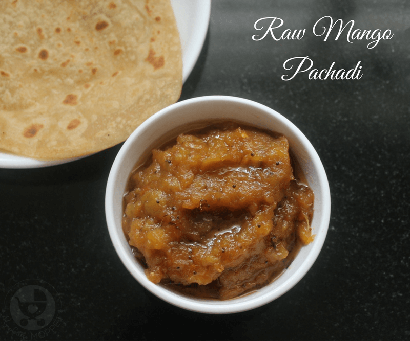This Raw Mango Pachadi Recipe is the perfect accompaniment to brighten up a boring meal! Goes well with rice, chapathis, parathas or dosas.
