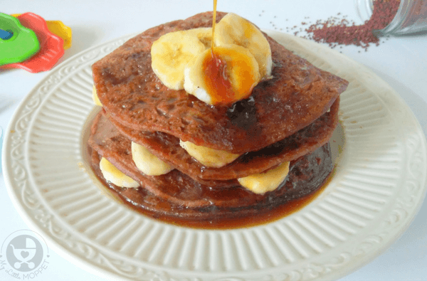 Ragi is a super ingredient that can be included in many dishes. These Ragi Banana Pancakes are free from sugar & baking powder making them perfect for kids!