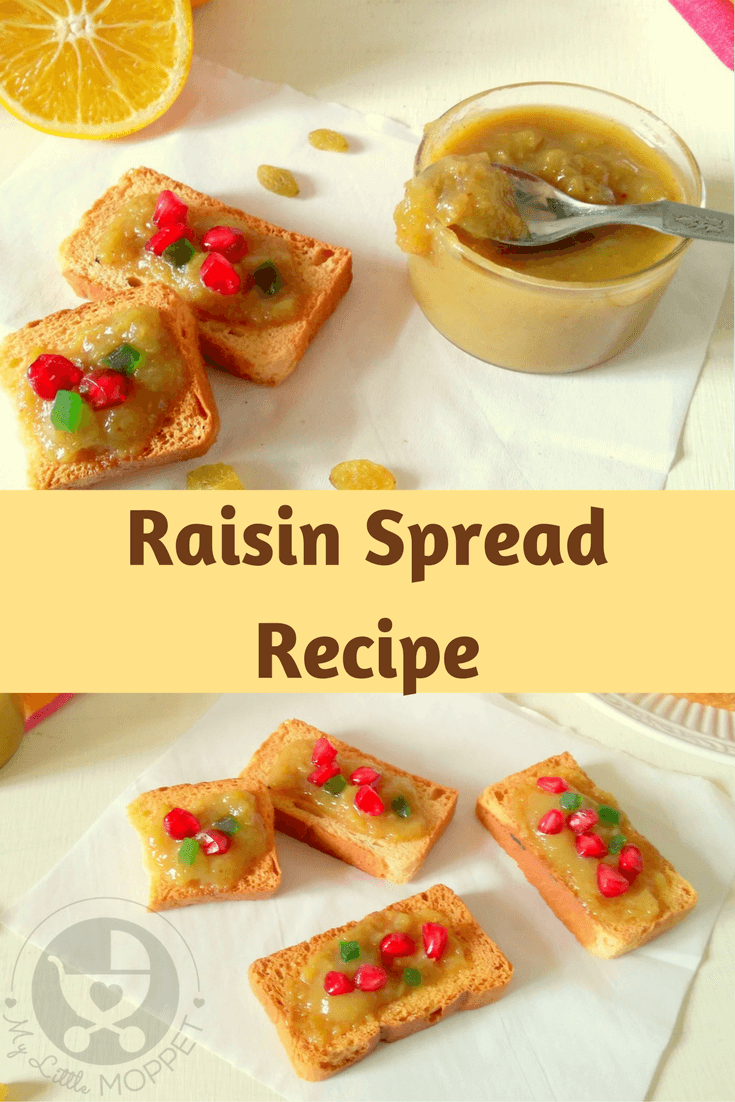 Worried about giving preservative loaded jam to your little one? Don't worry, try this healthy, homemade raisin spread - perfect for babies and toddlers!