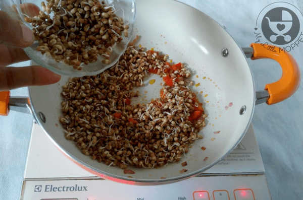 Sprouted Moth Beans Frankie Recipe
