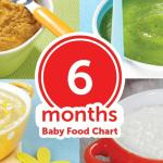 6 Months Baby Food Chart – with Indian Recipes