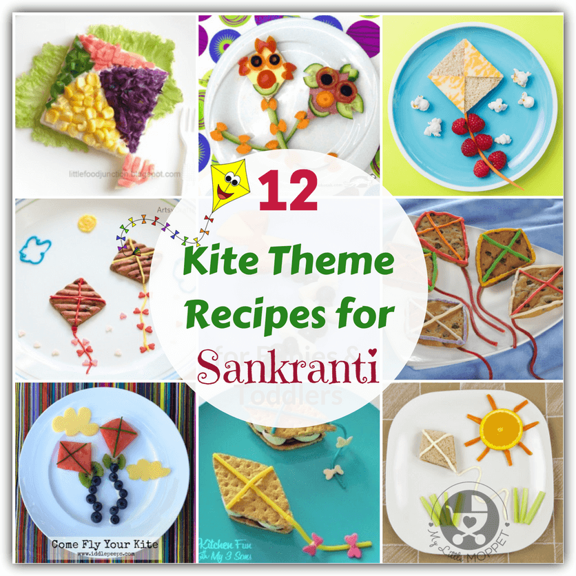 Sankranti isn't complete without kites, and we have a bunch of fun kite theme recipes that are perfect for this festival! Choose from cookies, sandwiches, fruit plates and more!
