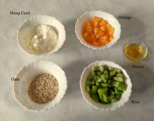 Ingredients for Tricolor fruit parfait