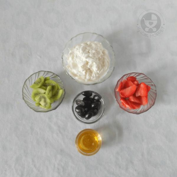 Ingredients required to make frozen yogurt bark